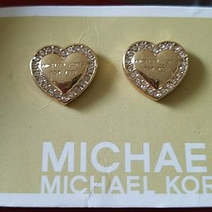 MICHAEL KORS Gold Heart Earrings